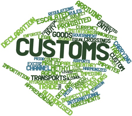 Abstract word cloud for Customs with related tags and terms Stock Photo - 16739249