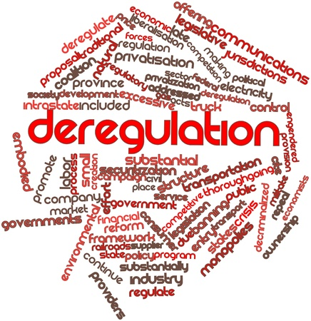 coalition: Abstract word cloud for Deregulation with related tags and terms Stock Photo
