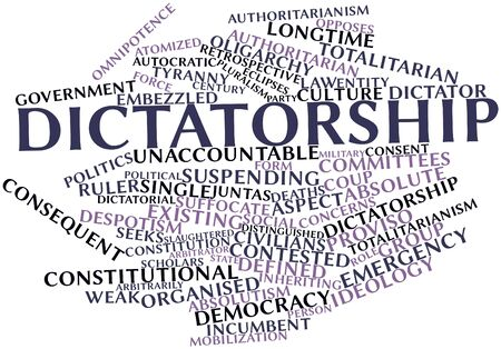 incumbent: Abstract word cloud for Dictatorship with related tags and terms