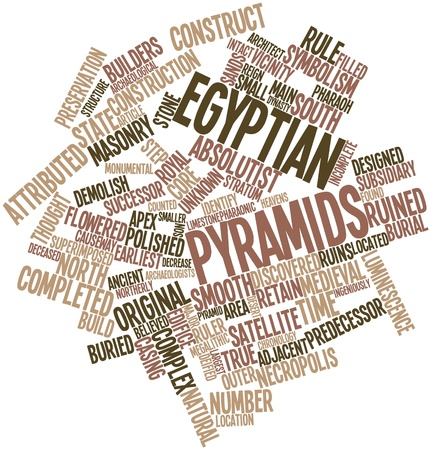 predecessor: Abstract word cloud for Egyptian pyramids with related tags and terms