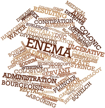 Abstract word cloud for Enema with related tags and terms Stock Photo - 16739964