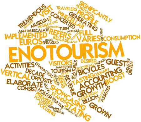 staying: Abstract word cloud for Enotourism with related tags and terms