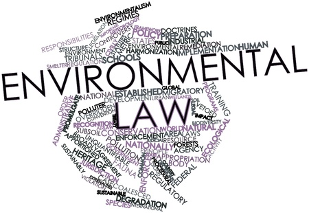 regulation: Abstract word cloud for Environmental law with related tags and terms