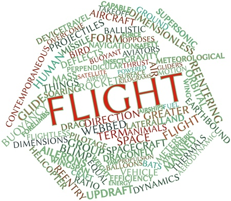 Abstract word cloud for Flight with related tags and terms Stock Photo - 16739800