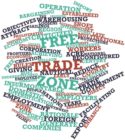 prevailing: Abstract word cloud for Free trade zone with related tags and terms