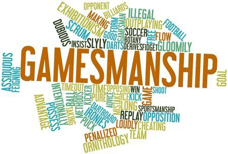 gamesmanship: Nube palabra abstracta para Gamesmanship con etiquetas y t�rminos relacionados Foto de archivo