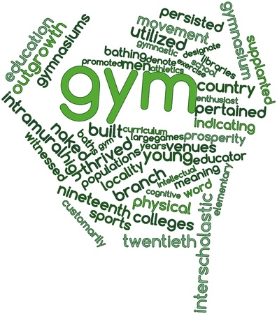 intramural: Abstract word cloud for Gym with related tags and terms
