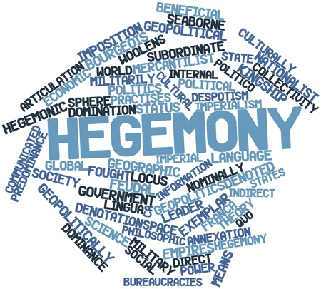 denoted: Abstract word cloud for Hegemony with related tags and terms Stock Photo