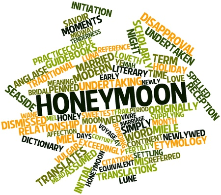 undertaken: Abstract word cloud for Honeymoon with related tags and terms