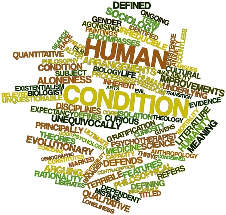necessarily: Abstract word cloud for Human condition with related tags and terms