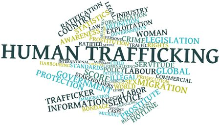 Abstract word cloud for Human trafficking with related tags and terms Stock Photo - 16738926