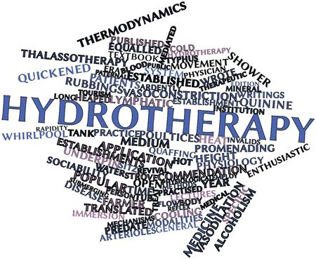 establishments: Abstract word cloud for Hydrotherapy with related tags and terms