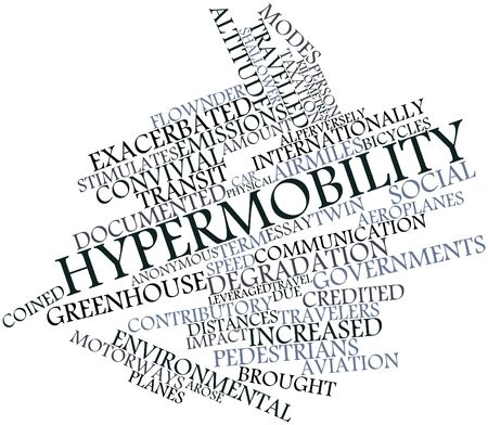 flown: Abstract word cloud for Hypermobility with related tags and terms Stock Photo