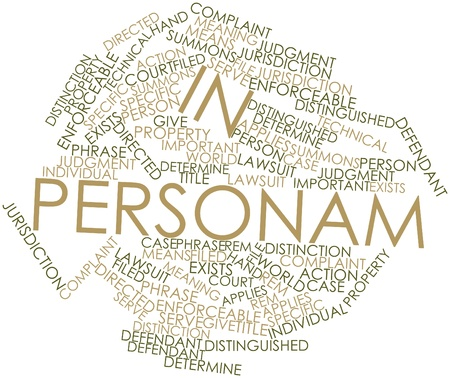 summons: Abstract word cloud for In personam with related tags and terms