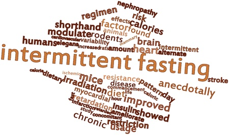 Abstract word cloud for Intermittent fasting with related tags and terms Stock Photo - 16738924