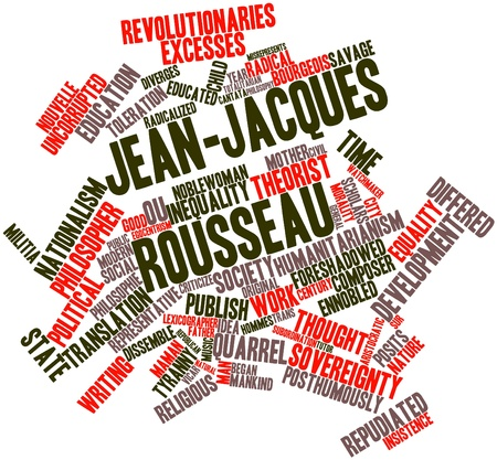 lexicographer: Abstract word cloud for Jean-Jacques Rousseau with related tags and terms