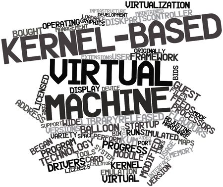 dev: Abstract word cloud for Kernel-based Virtual Machine with related tags and terms