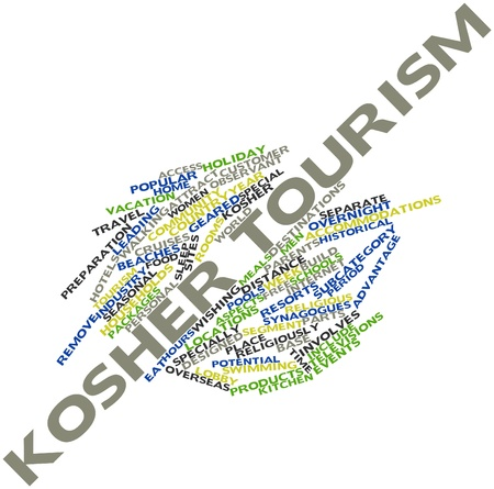 synagogues: Abstract word cloud for Kosher tourism with related tags and terms