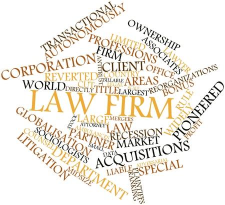 関連するタグと用語の法律事務所のための抽象的な単語雲