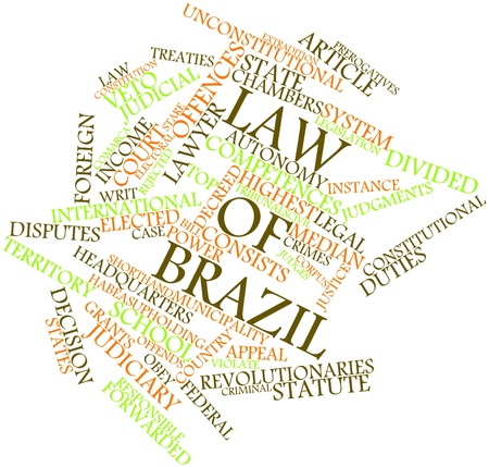 Abstract word cloud for Law of Brazil with related tags and terms Stock Photo - 16739174