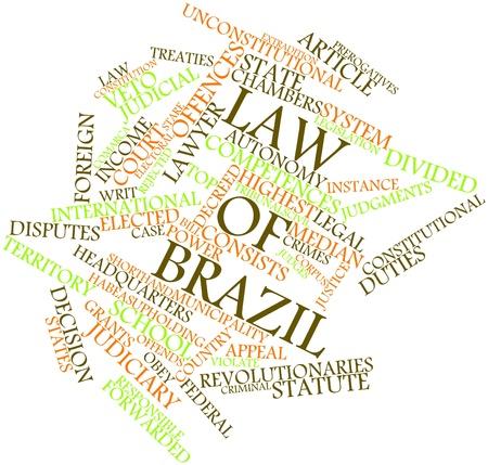 decide: Nube palabra abstracta por la Ley de Brasil con las etiquetas y t�rminos relacionados