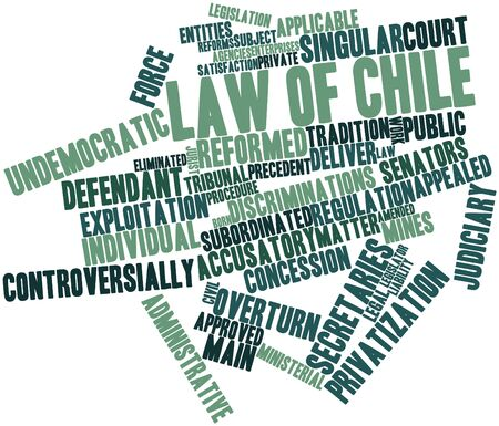 subordinated: Abstract word cloud for Law of Chile with related tags and terms