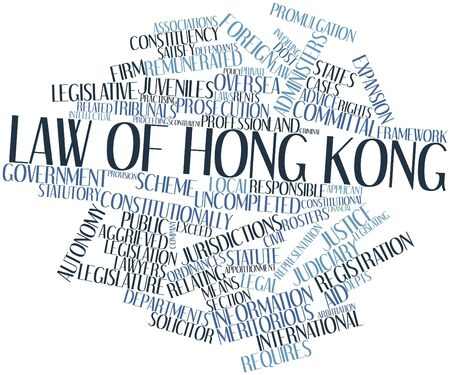 depts: Abstract word cloud for Law of Hong Kong with related tags and terms