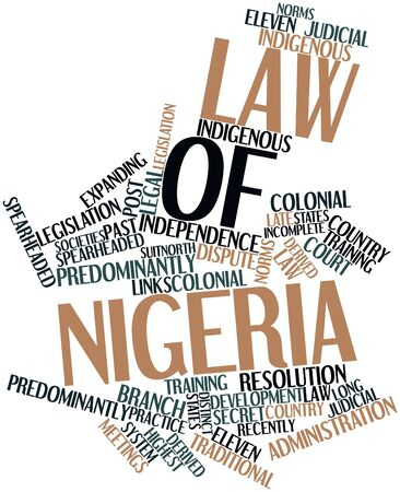 Abstract word cloud for Law of Nigeria with related tags and terms Stock Photo - 16738979