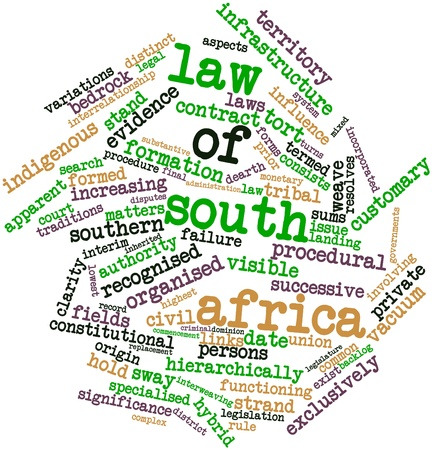 dominion: Abstract word cloud for Law of South Africa with related tags and terms