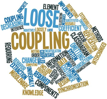 loose: Abstract word cloud for Loose coupling with related tags and terms