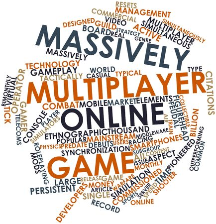 clan: Abstract word cloud for Massively multiplayer online game with related tags and terms