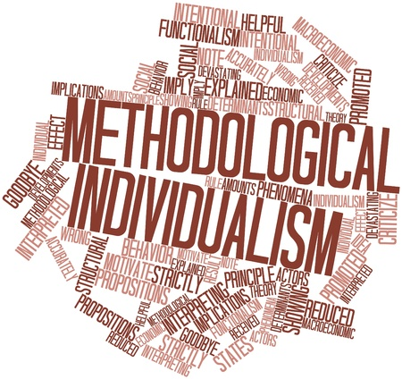 determinants: Abstract word cloud for Methodological individualism with related tags and terms Stock Photo