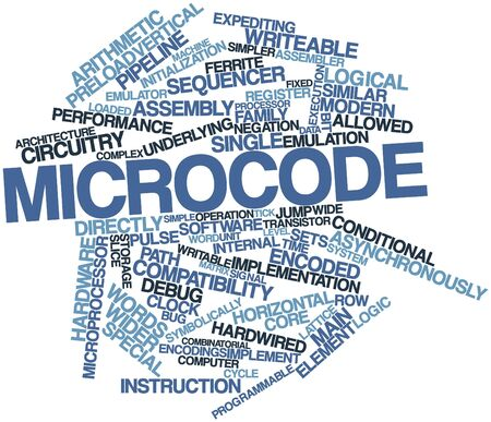 encoded: Abstract word cloud for Microcode with related tags and terms