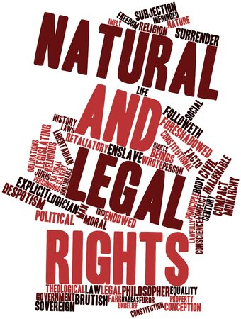 enslave: Abstract word cloud for Natural and legal rights with related tags and terms