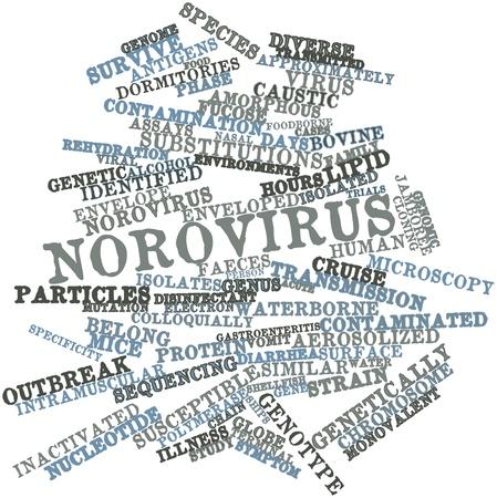 desinfectante: Nube palabra abstracta por Norovirus con etiquetas y términos relacionados