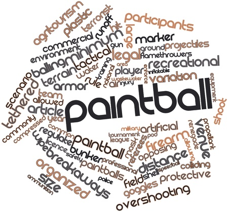 welt: Abstract word cloud for Paintball with related tags and terms