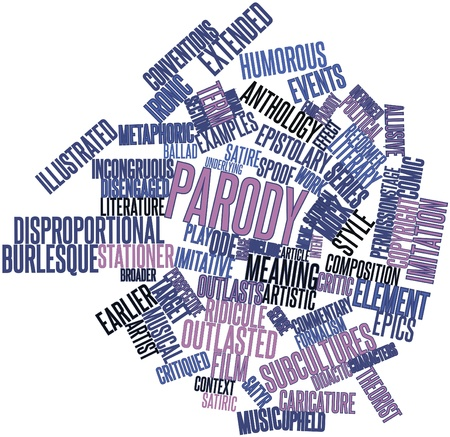 Abstract word cloud for Parody with related tags and terms