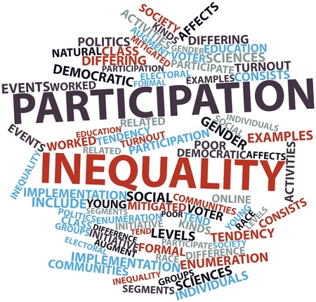 Abstract word cloud for Participation inequality with related tags and terms Stock Photo - 16739261