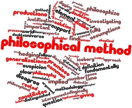 Abstract word cloud for Philosophical method with related tags and terms Stock Photo - 16739038