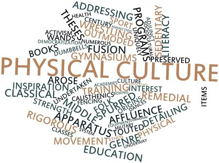 uniquely: Abstract word cloud for Physical culture with related tags and terms