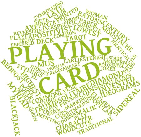 positivist: Abstract word cloud for Playing card with related tags and terms