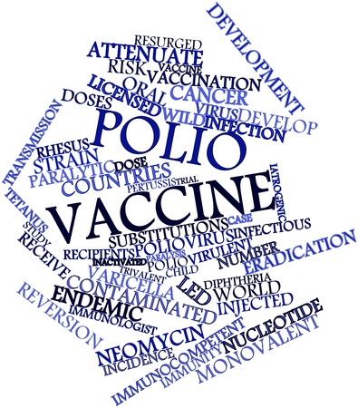 Abstract word cloud for Polio vaccine with related tags and terms Stock Photo - 16739693
