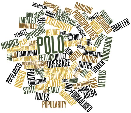 Abstract word cloud for Polo with related tags and terms Stock Photo - 16739807