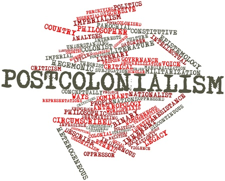 discontinuous: Abstract word cloud for Postcolonialism with related tags and terms