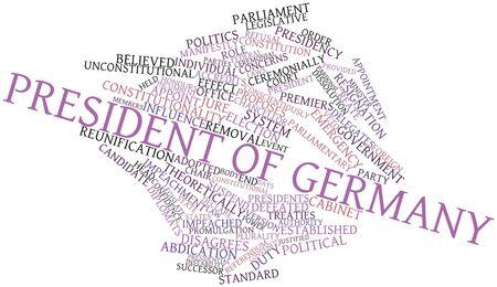 tratados: Nube palabra abstracta para el presidente de Alemania, con etiquetas y t�rminos relacionados