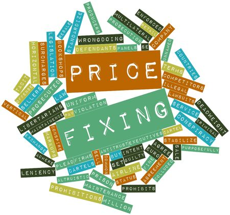 conspire: Abstract word cloud for Price fixing with related tags and terms