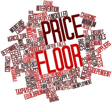 ineffective: Abstract word cloud for Price floor with related tags and terms Stock Photo