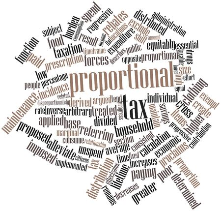 imposed: Abstract word cloud for Proportional tax with related tags and terms