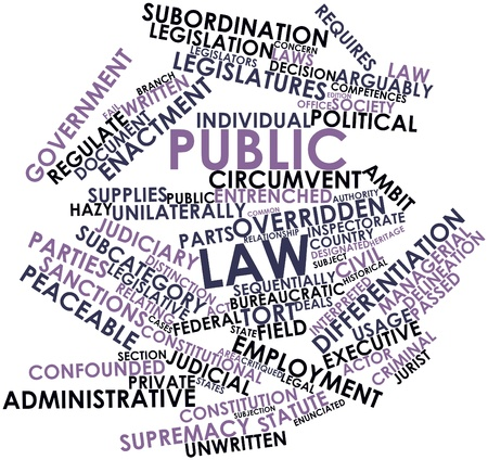 Abstract word cloud for Public law with related tags and terms Stock Photo - 16739670