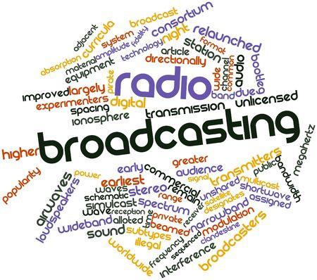 airwaves: Abstract word cloud for Radio broadcasting with related tags and terms